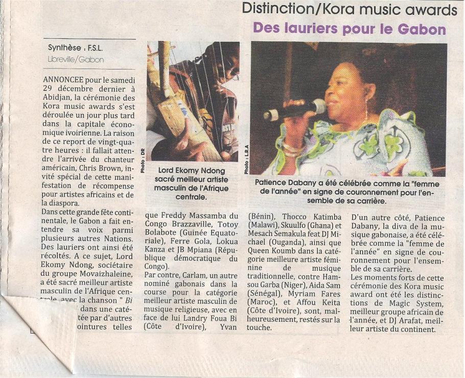 Ékomy sacré aux Koras 2012